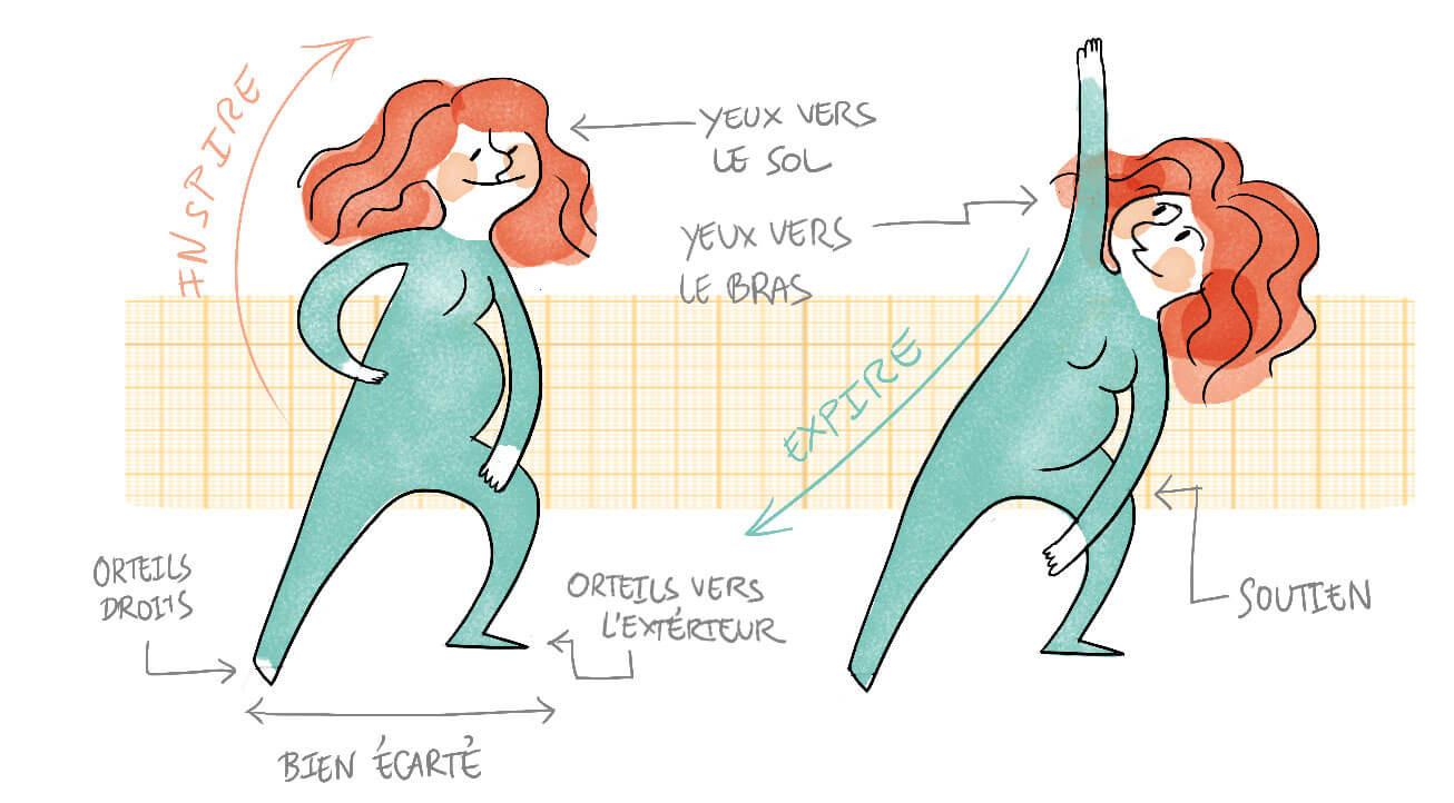 grossesse et yoga exercices faire chez soi dodow. Black Bedroom Furniture Sets. Home Design Ideas